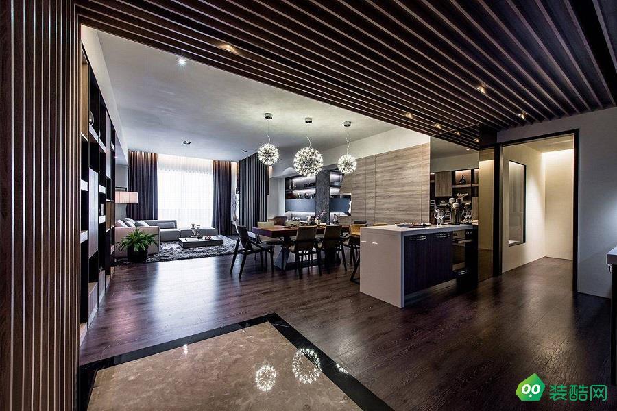 宁波现代简约二居室110平装修案例