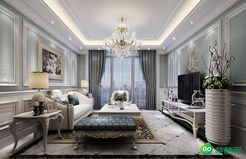 宁波简欧风格三居室110平装修案例