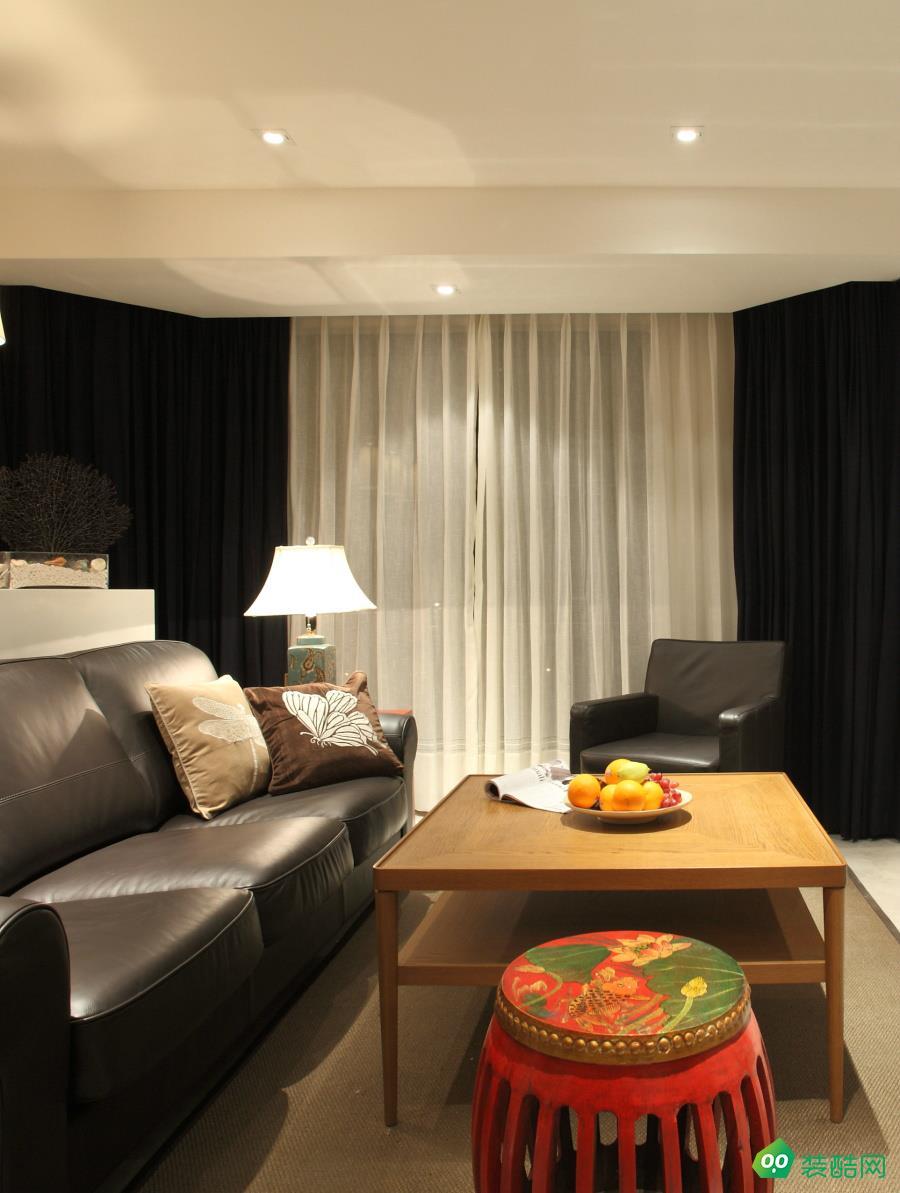 上城国际110平三室中式风格装修效果图
