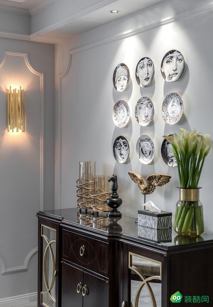 兰州-120㎡三居室轻奢美式风格装修效果图