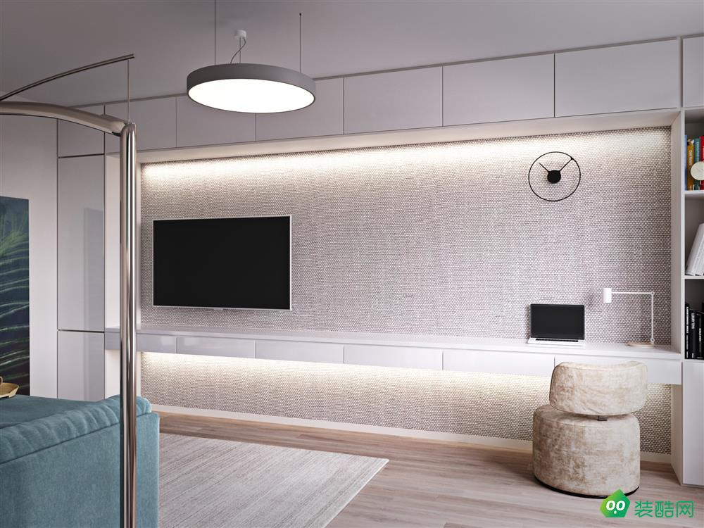 锦州-60㎡二居室现代公寓装修效果图