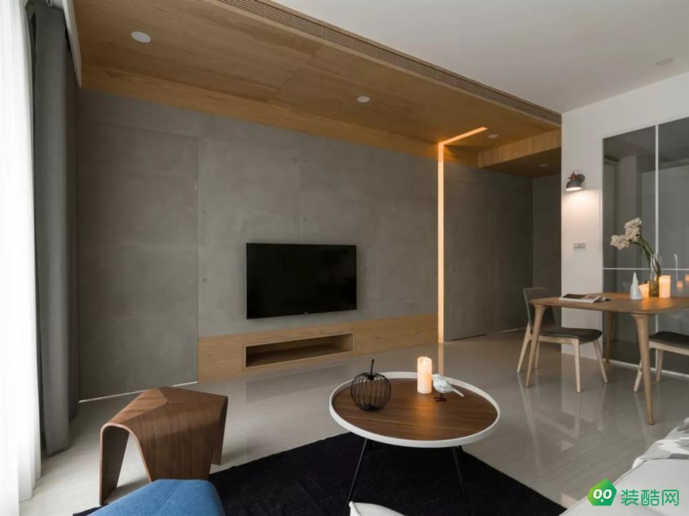 上海80平米现代风格两居室装修案例图片-橡银装饰