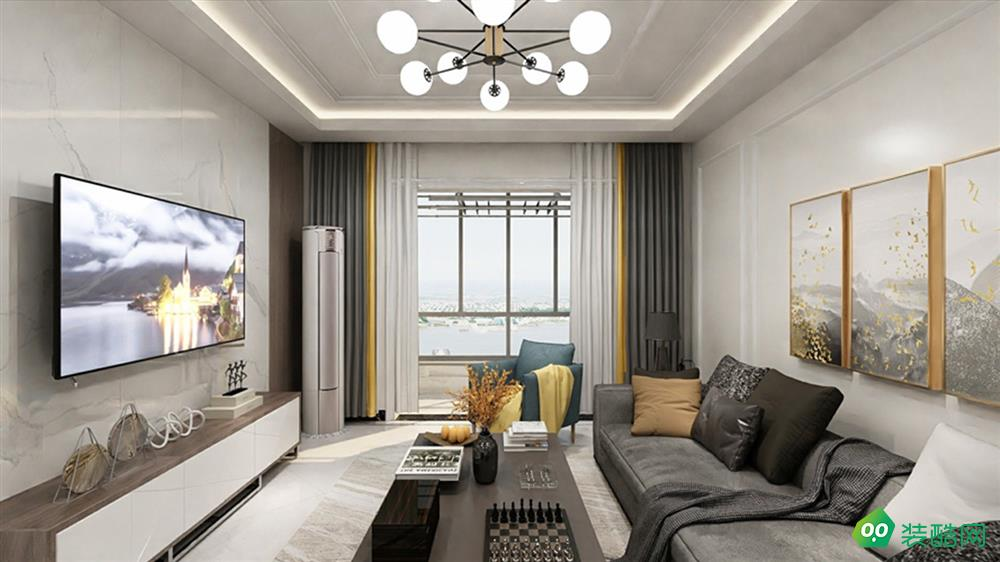 上海108平米现代风格两居室装修案例图片-橡银装饰