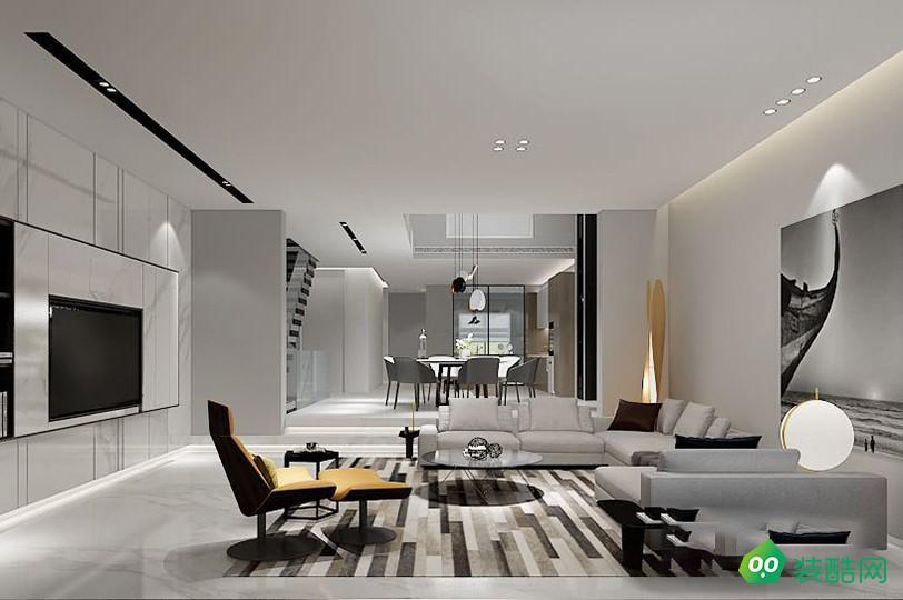 青岛500平米现代风格别墅装修案例图片-尚筑名家装饰