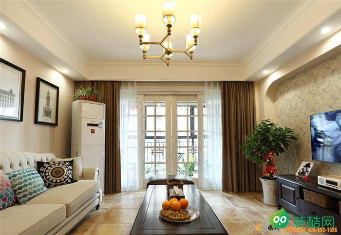 上海150平米现代美式风格三室两厅装修案例图片-国新装饰