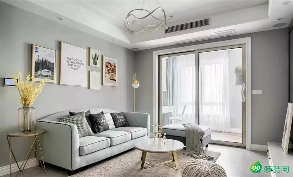 上海78平米北欧风格两居室装修案例图片-国新装饰