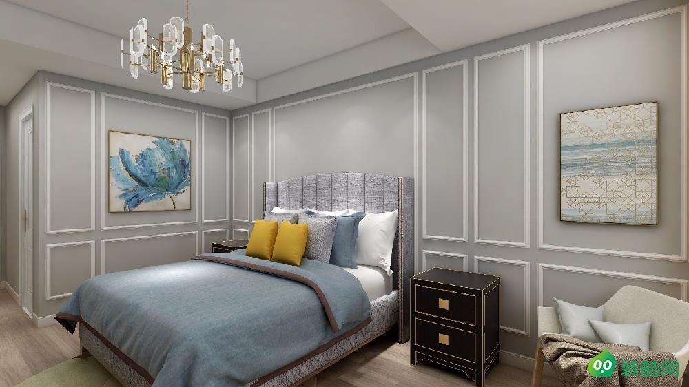 兰州-三居室-120平米简欧风格装修效果图
