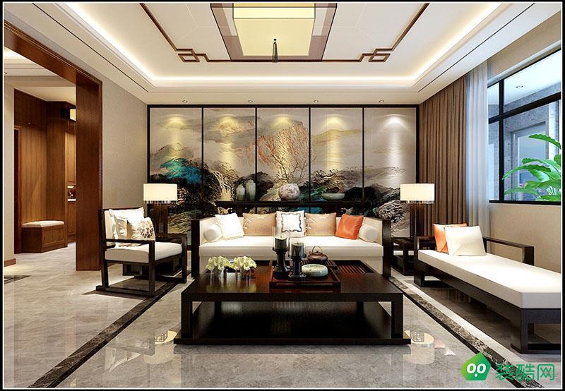 边防家园260平新中式风格装修效果图