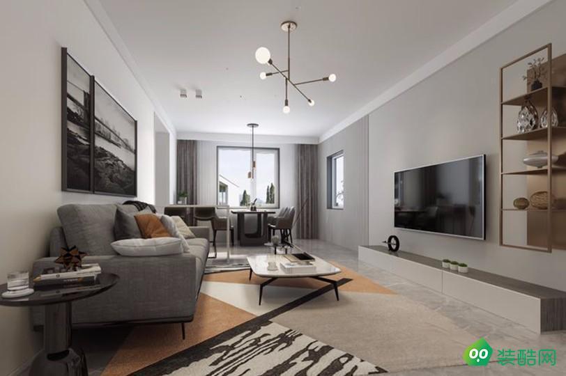 安庆88平米现代风格两居室装修案例图片-嘉伟装饰