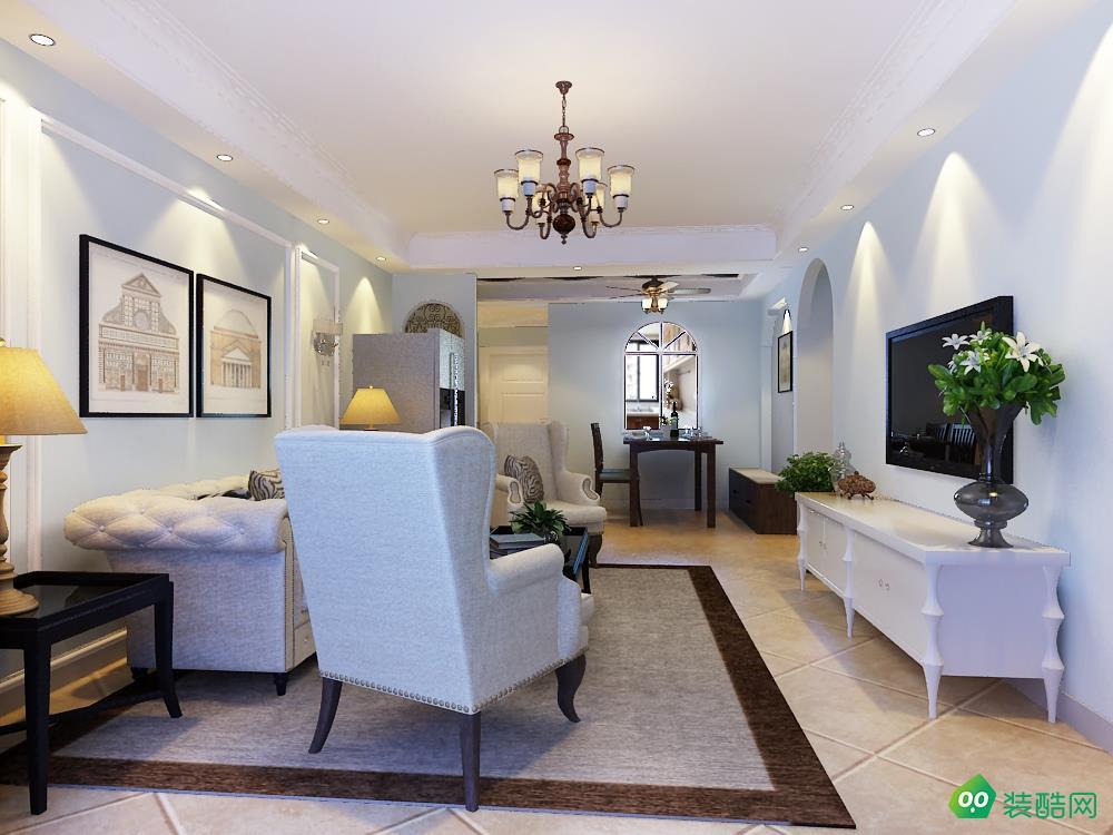 遵义美式风格三居室128平装修案例