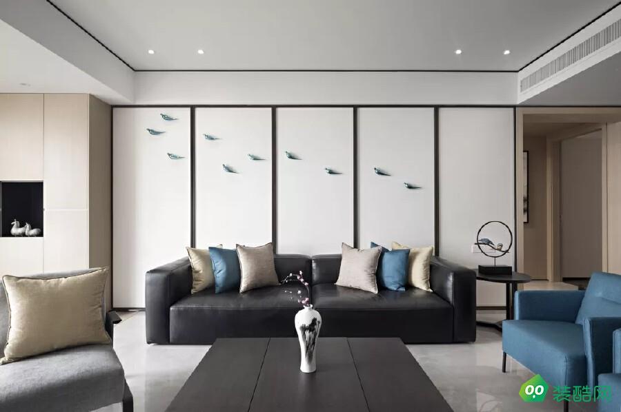 武汉160平米新中式风格三室装修效果图