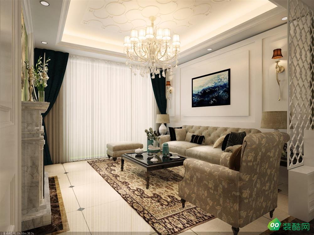 南充120平米法式田园风格三居室装修案例图片-全仕装饰
