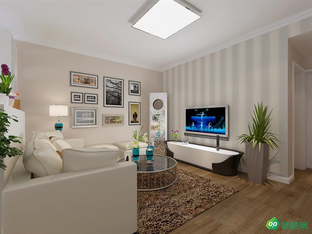 南充88平米现代简约风格两居室装修案例图片-全仕装饰