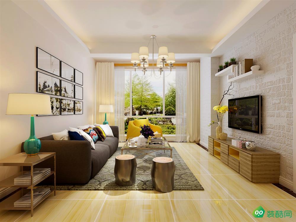 南充95平米现代简约风格两居室装修案例图片-全仕装饰
