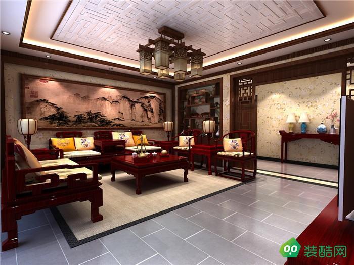 贵阳中式古典三居室200平装修案例