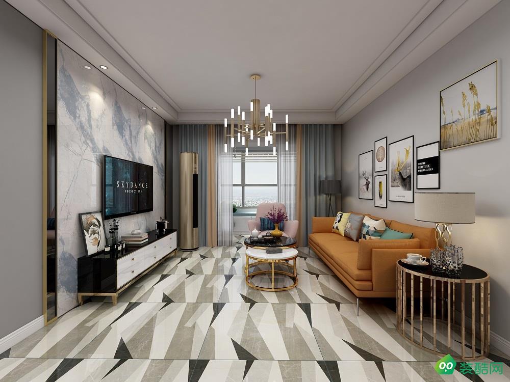 长春现代简约三居室100平装修案例