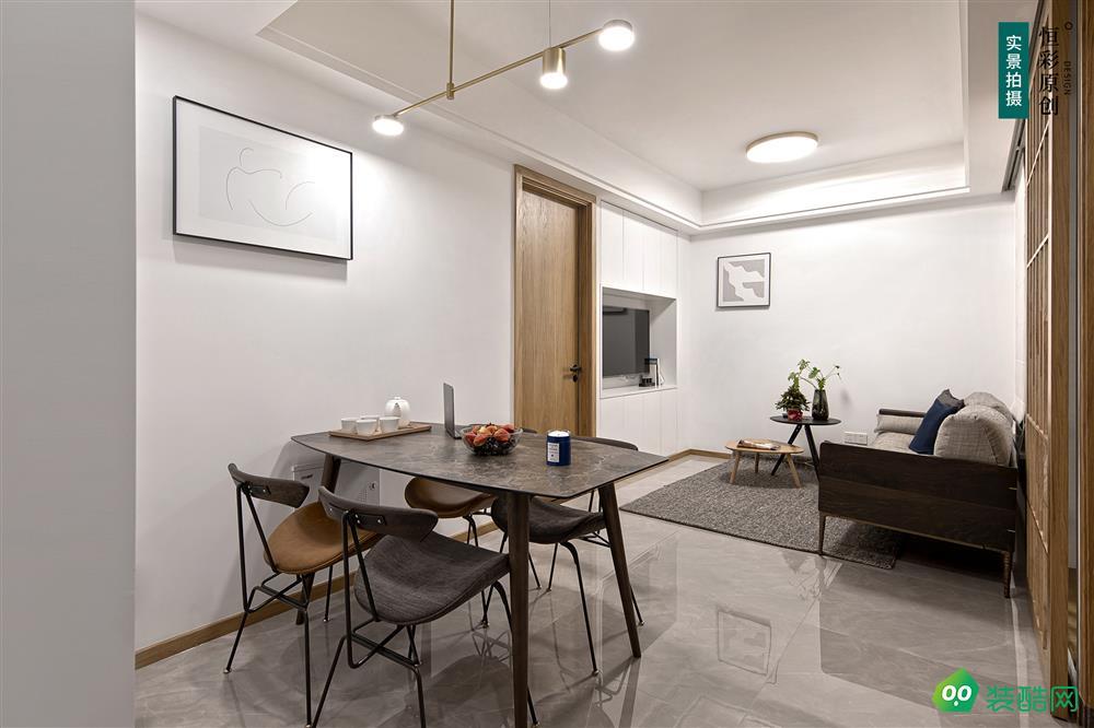 60㎡两房+阳台衣帽间,塞下电视机,卫生间还得干湿分离