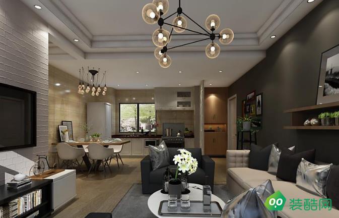 成都71平米现代简约风格两居室装修案例图片-无同之家装饰