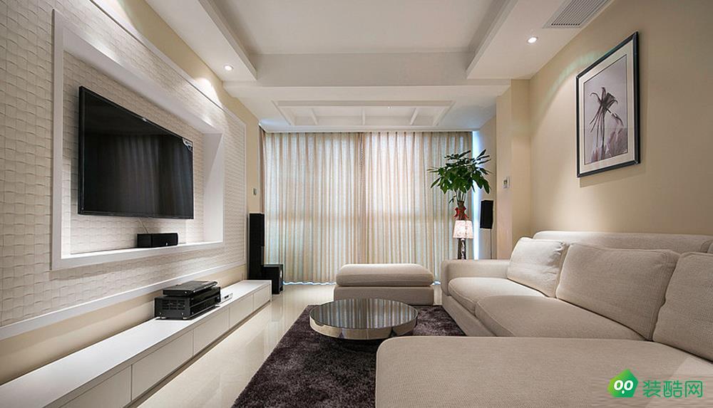 大连112平米现代简约风格三室两厅装修案例图片-蘑菇加装饰