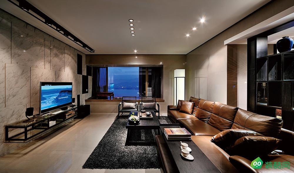 大连126平米中式风格四居室装修案例图片-蘑菇加装饰