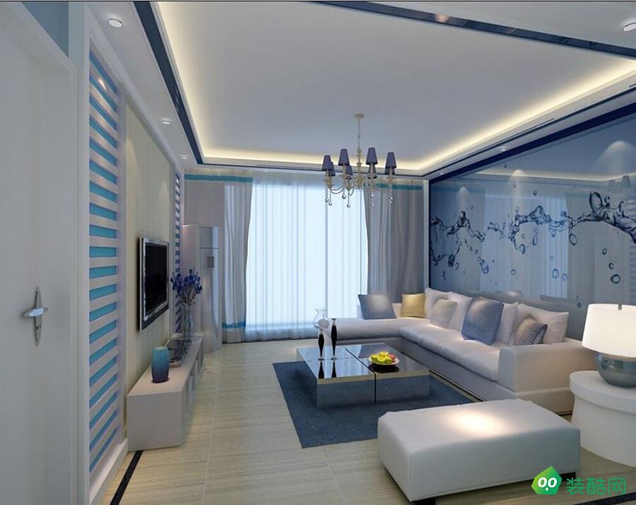 大连117平米现代简约风格三室两厅装修案例图片-蘑菇加装饰