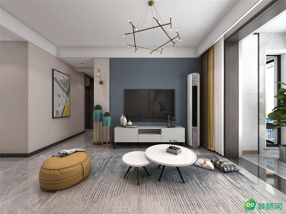 长安东郡、现代、100平米、三室两厅、装修图