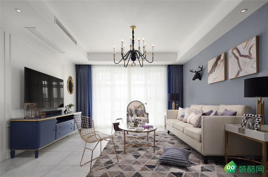 贵阳欧式风格三居室108平装修案例