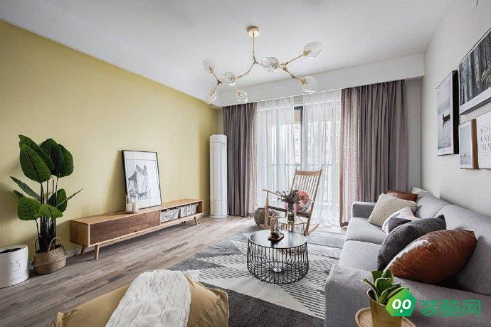 贵阳北欧风格三居室110平装修案例