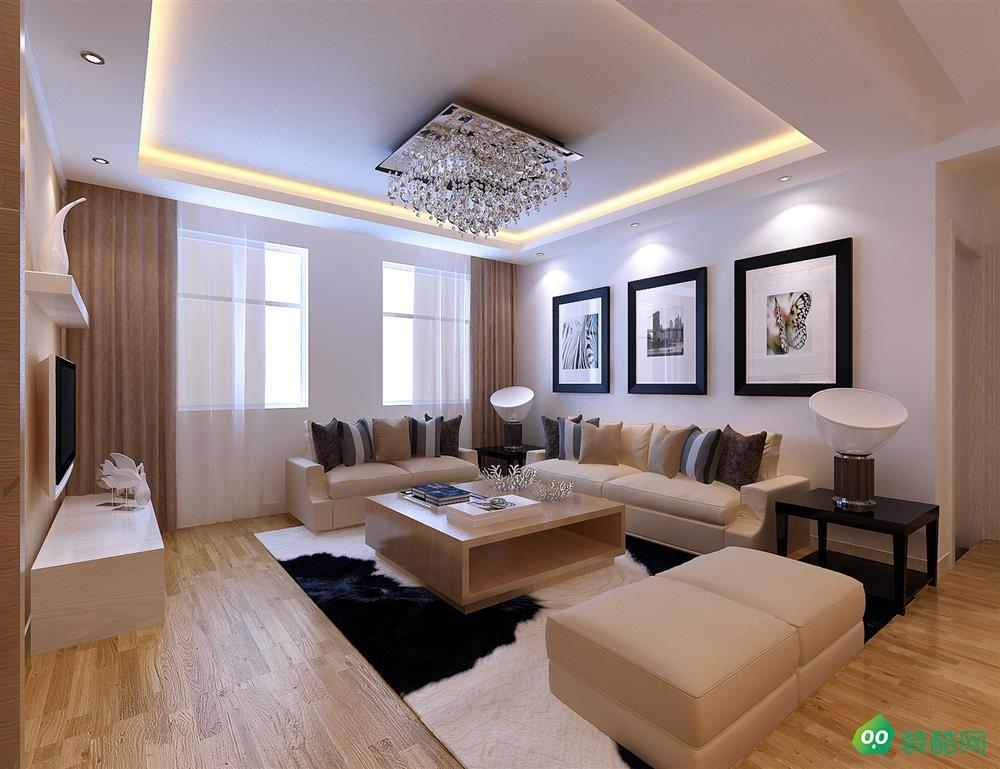 大连88平米现代简约风格两居室装修案例图-仁森装饰