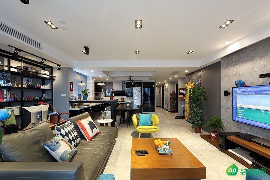 乌鲁木齐110平米北欧风格三居室装修案例图片-昊天品居装饰