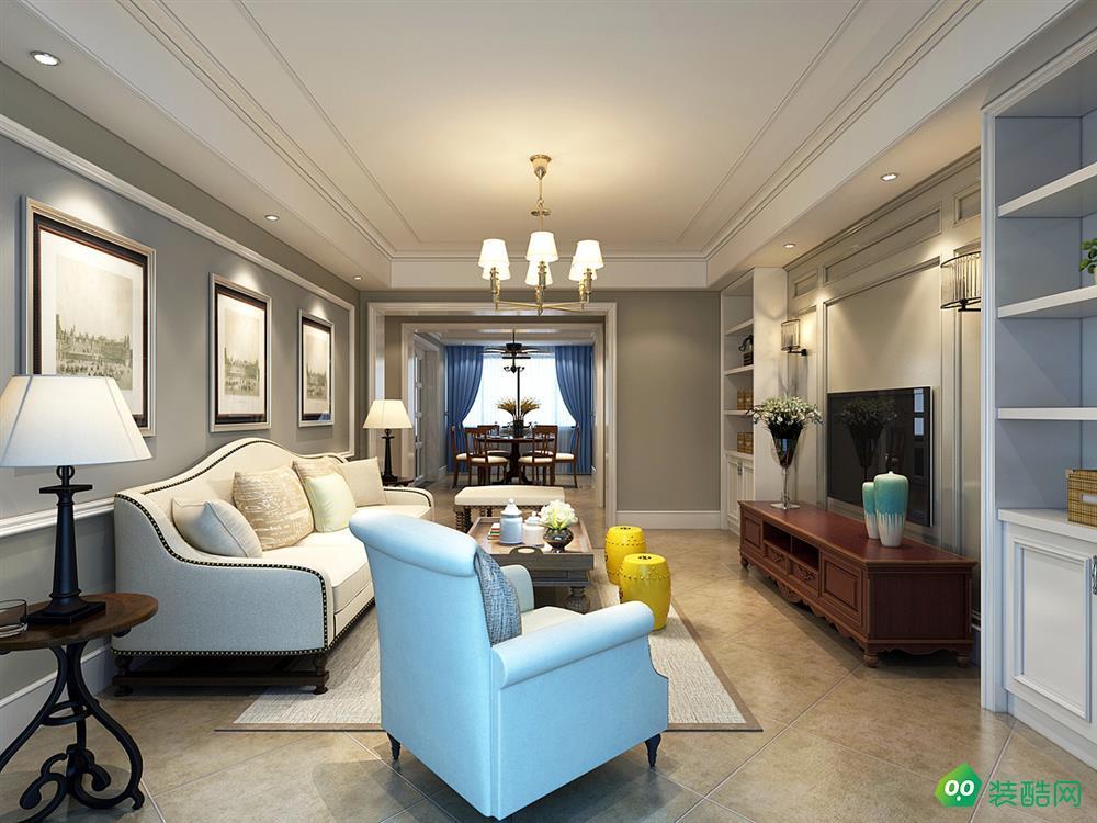 璧山117平米美式风格三室两厅装修案例图片-交换空间装饰