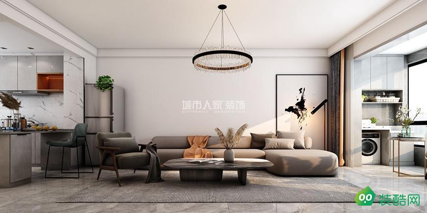 林邑93平米简约风格装修设计案例