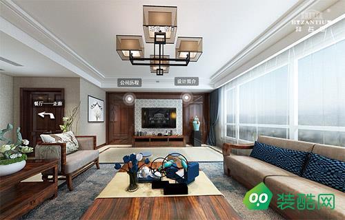海鑫花园220方新中式风格设计案例