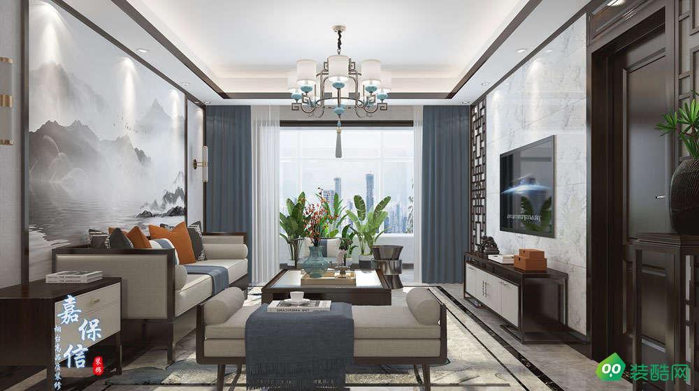 山海龙城120平三室两厅新中式风格案例
