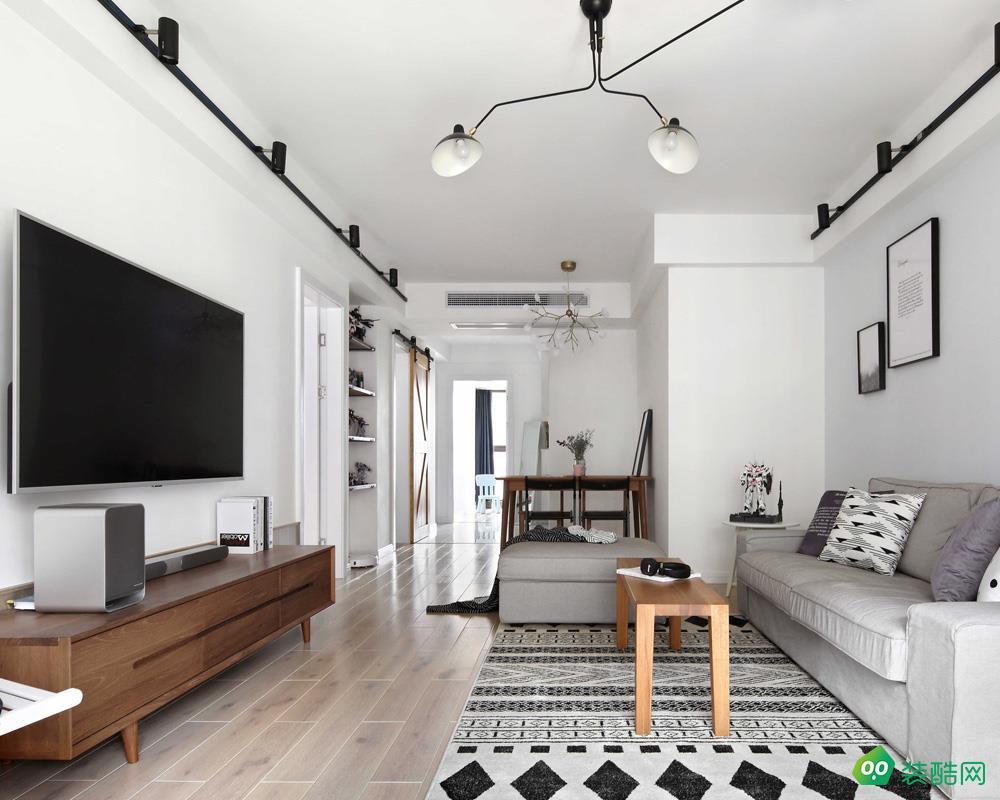 大连91平米北欧风格两居室装修案例图片-金跃装饰
