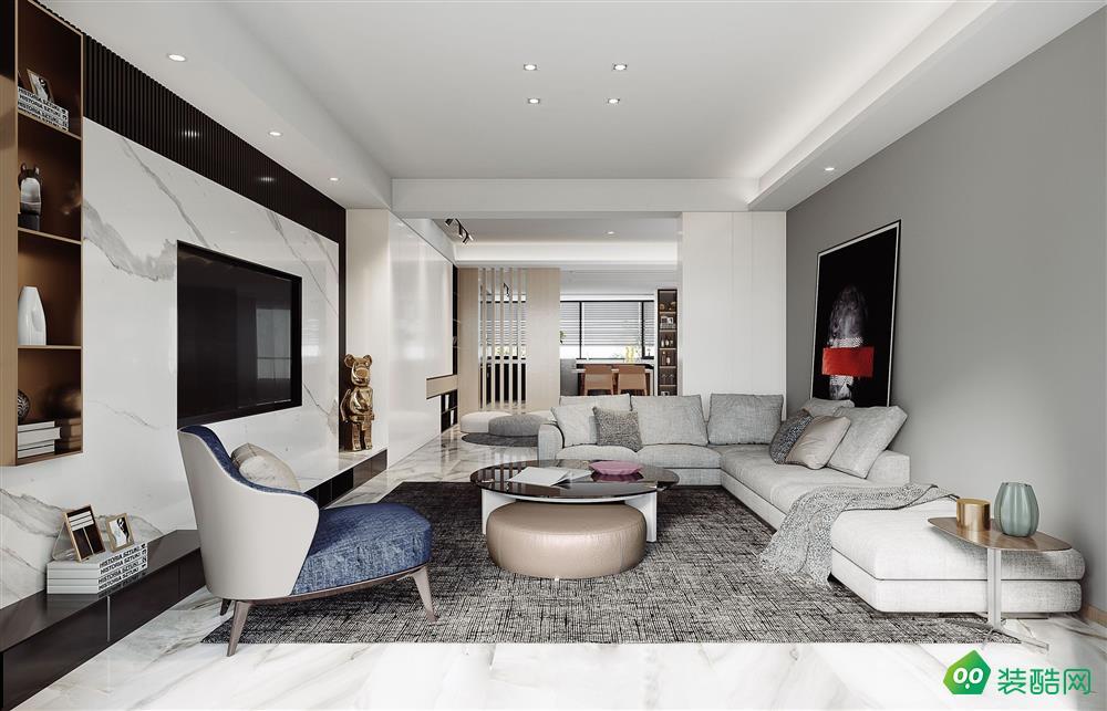 美景鸿城-148平现代四居室装修,整洁而大方