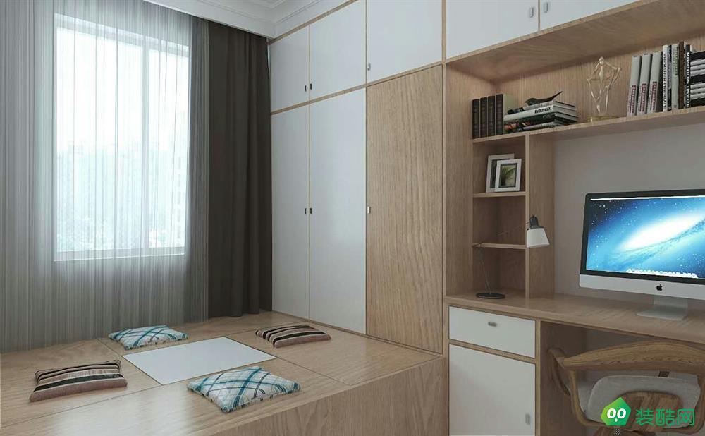 洛阳76平米现代风格两室装修效果图