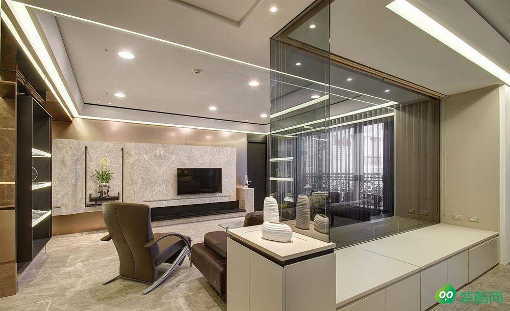 洛阳120平米现代风格三室装修效果图