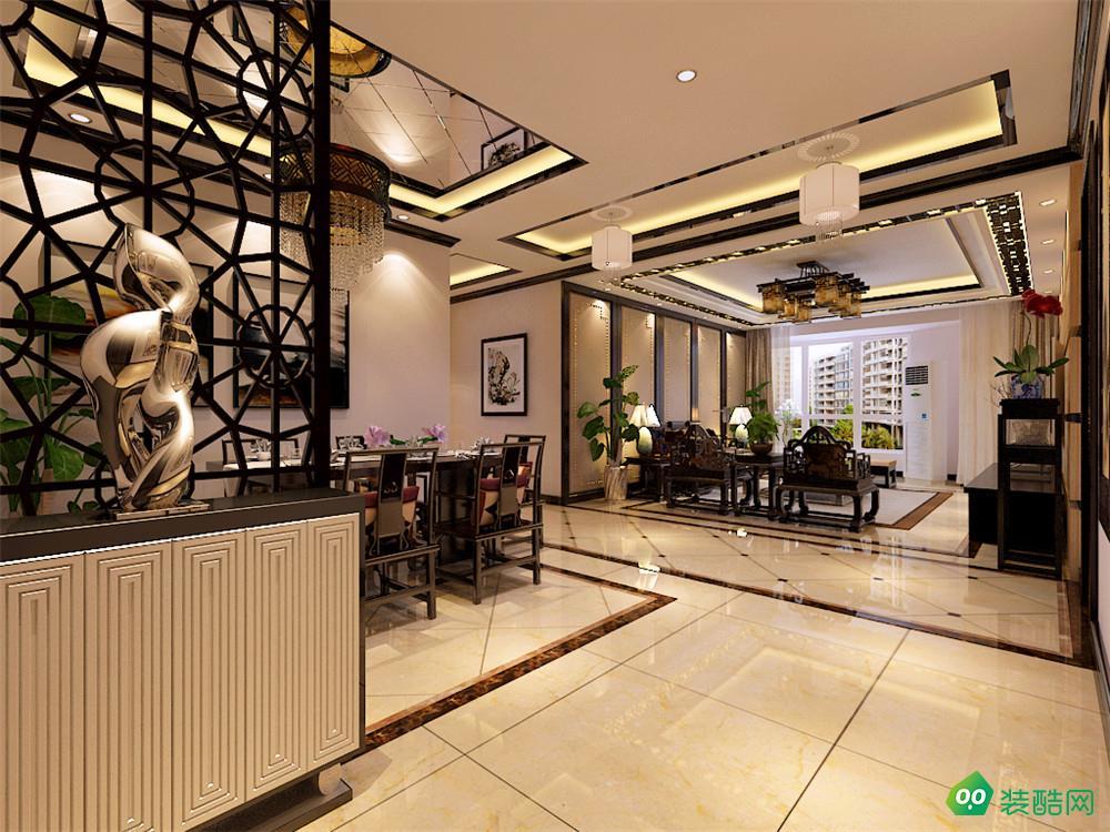南充135平米中式古典风格三居室装修案例图-铭古装饰