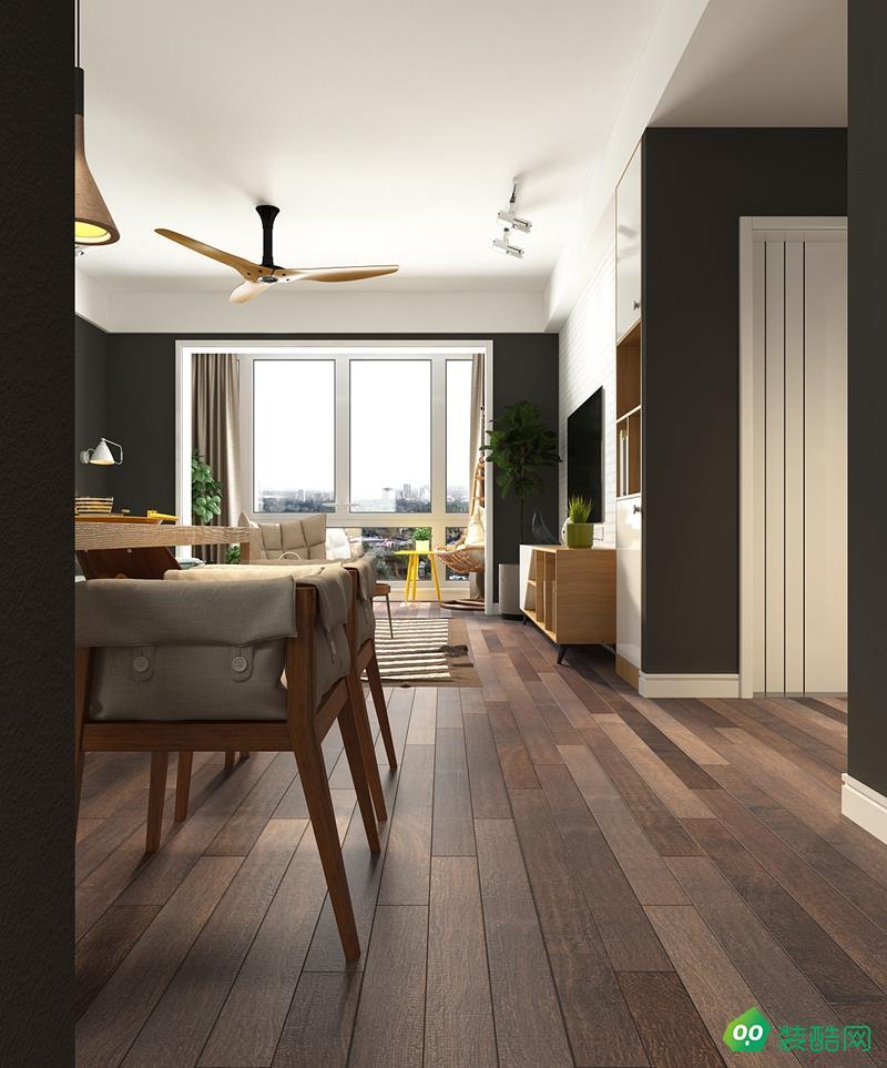 江津120平米现代风格三室两厅装修效果图