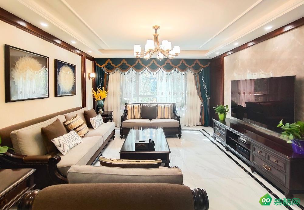 高铁明珠159平米古典美式风格