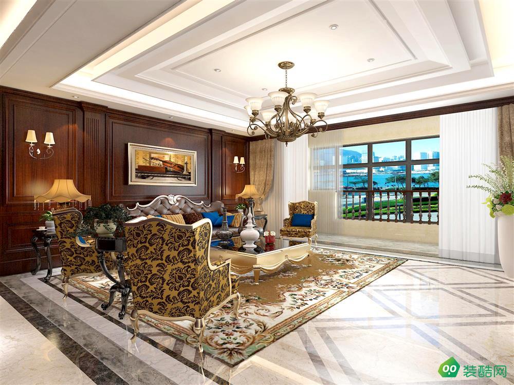 乌市170平米中式古典三室两厅装修案例图片-鲁墨装饰