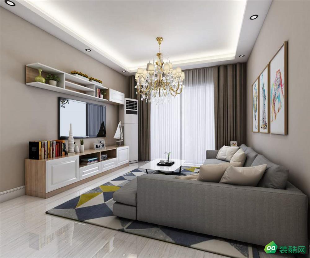 乌市90平米欧式风格两居室装修案例图片-美艺雅装饰