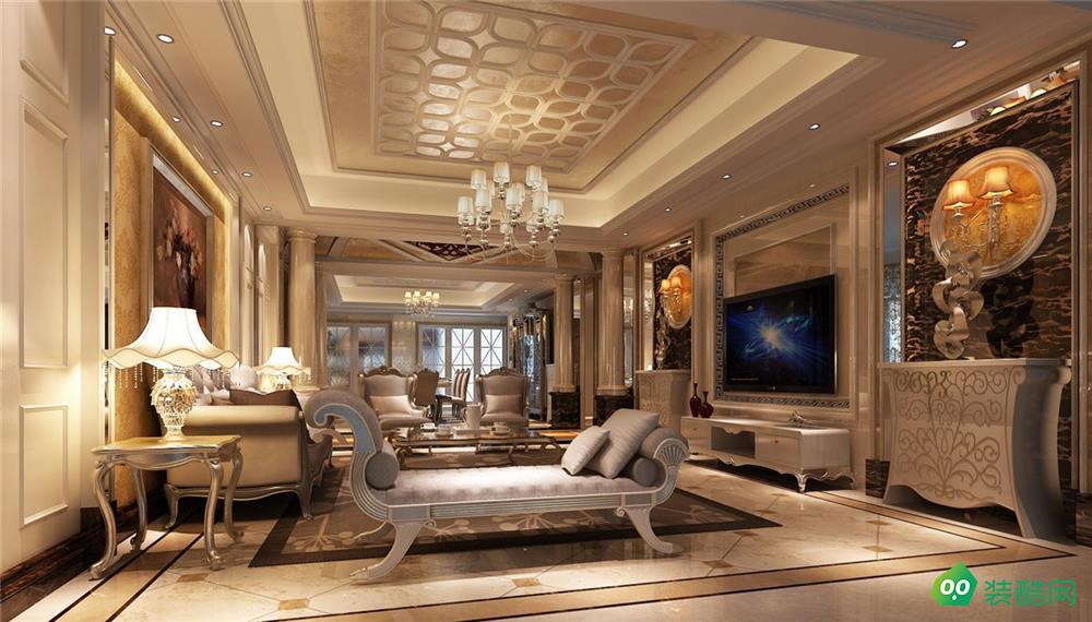 乌市300平米五居室新古典风格装修案例图-美艺雅装饰