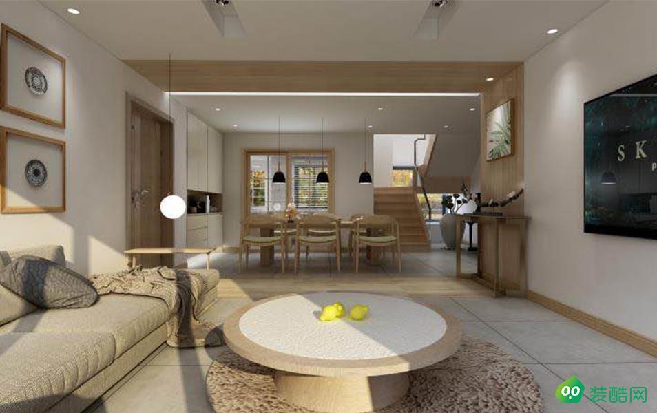 重慶200平米日系風格躍層住宅裝修案例效果圖
