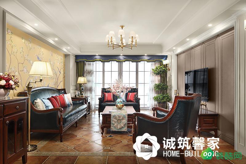 南京濱江奧城160平美式風格實景圖