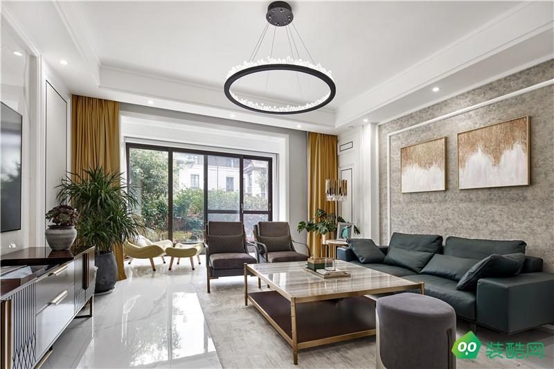 寧波簡約美式三居室144平裝修案例