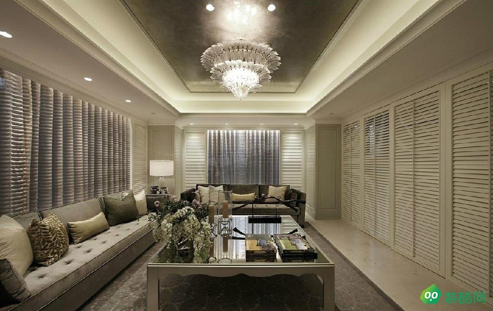 佛山135平米簡歐風格四室兩廳裝修效果圖-天開裝飾
