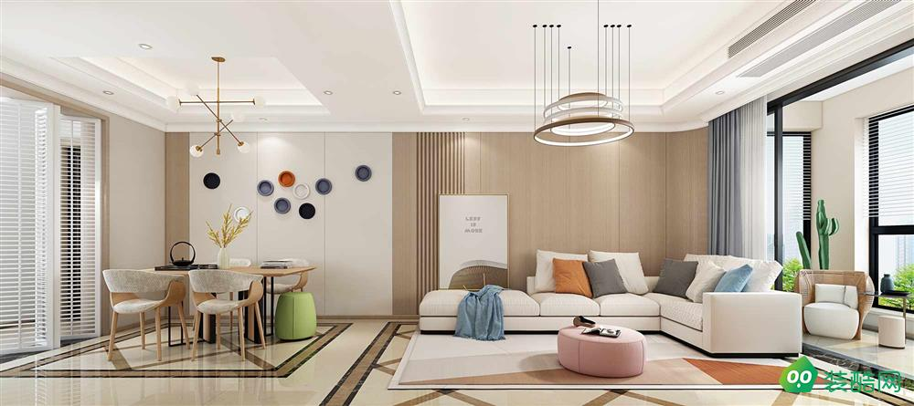 佛山140平米現代風格四室兩廳裝修效果圖-天開裝飾