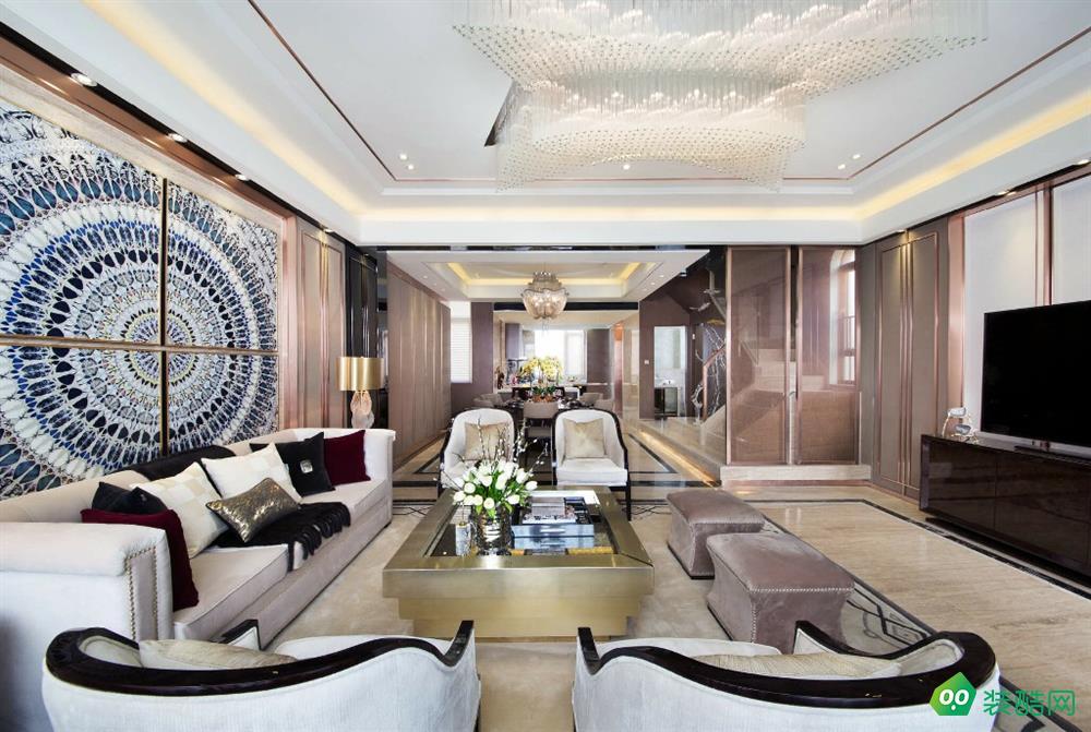 佛山150平米美式風格四室兩廳裝修效果圖-鼎藝佳裝飾